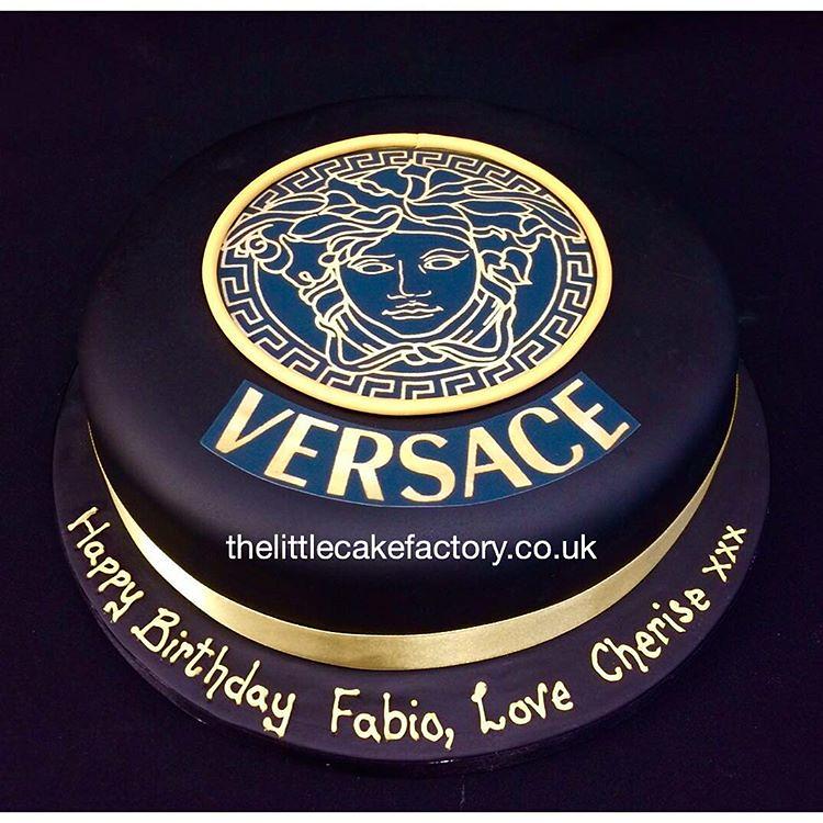 Versace Birthday Cake Versace Black Birthdaycake Desig Flickr