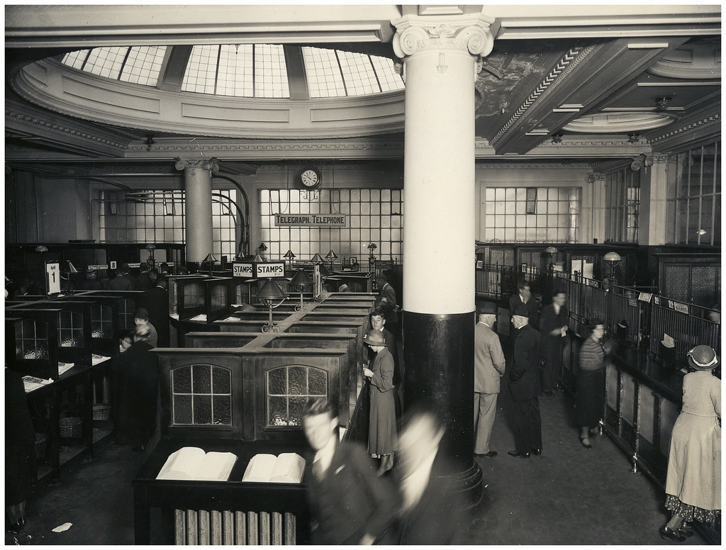 High Quality ... Wellington General Post Office Foyer, C.1920s | By Archives New Zealand