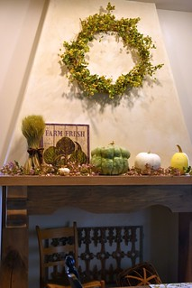 Autumn Dinning Room Mantel | by A Storybook Life