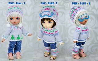 Winter PKF blue sweaters collage | by AnnaZu