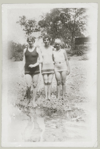 Three women at the beach