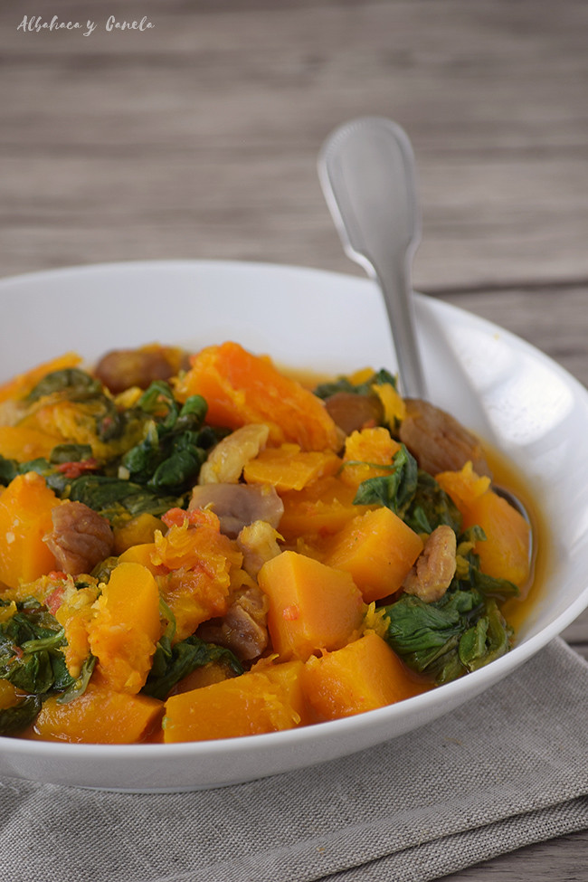 Pumpkin mango curry with chestnuts