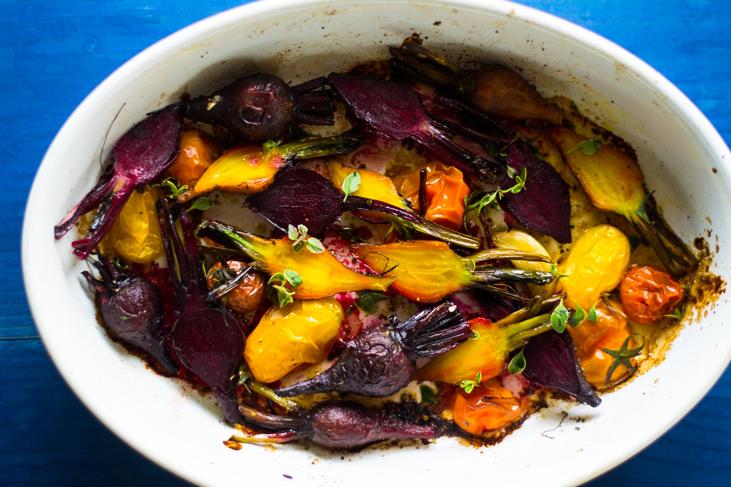 Roasted Beets and Tomatoes