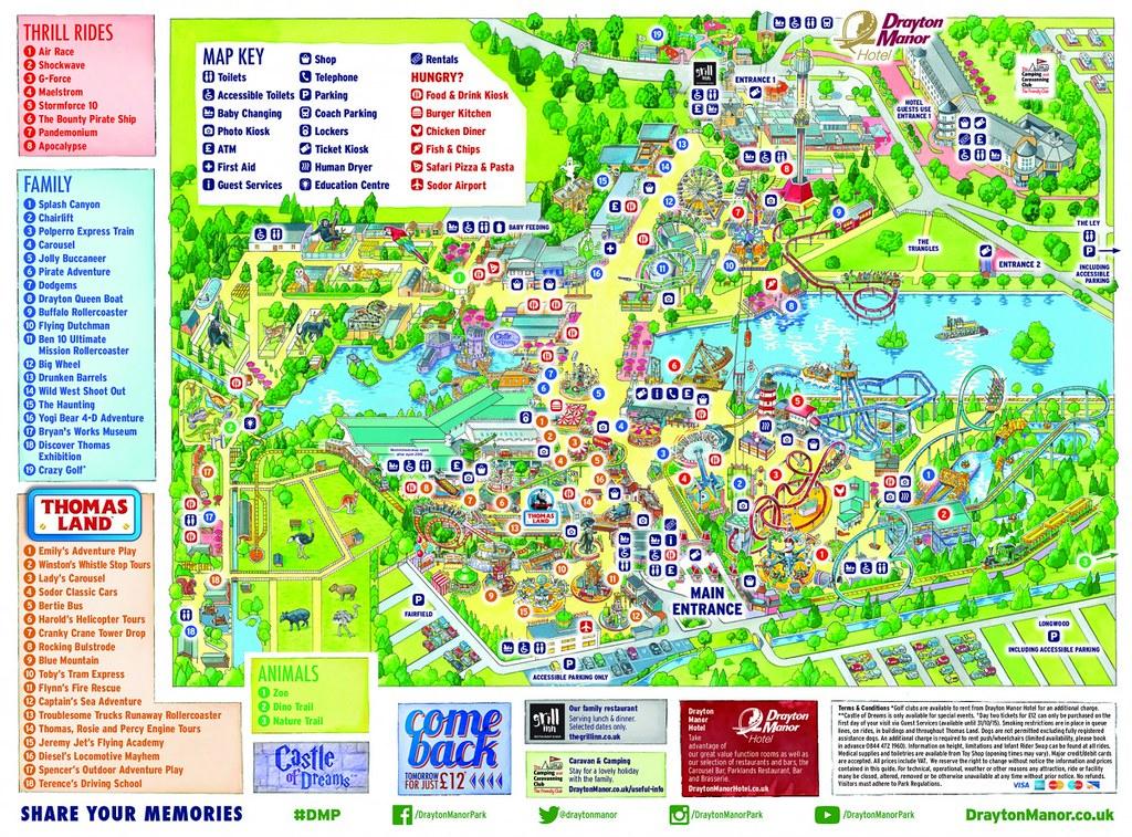 Drayton Manor Map Drayton Manor 2015 Park Map | Drayton Manor 2015 Park Map | Flickr Drayton Manor Map