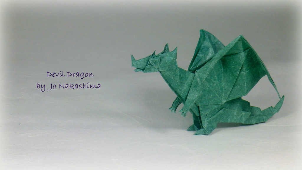 By Thomas Krapf Origami Devil Dragon A Jo Nakashima Design