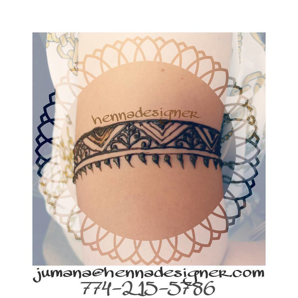 Henna Armband Done At A Party Hennadesigner Foxborohenna Flickr