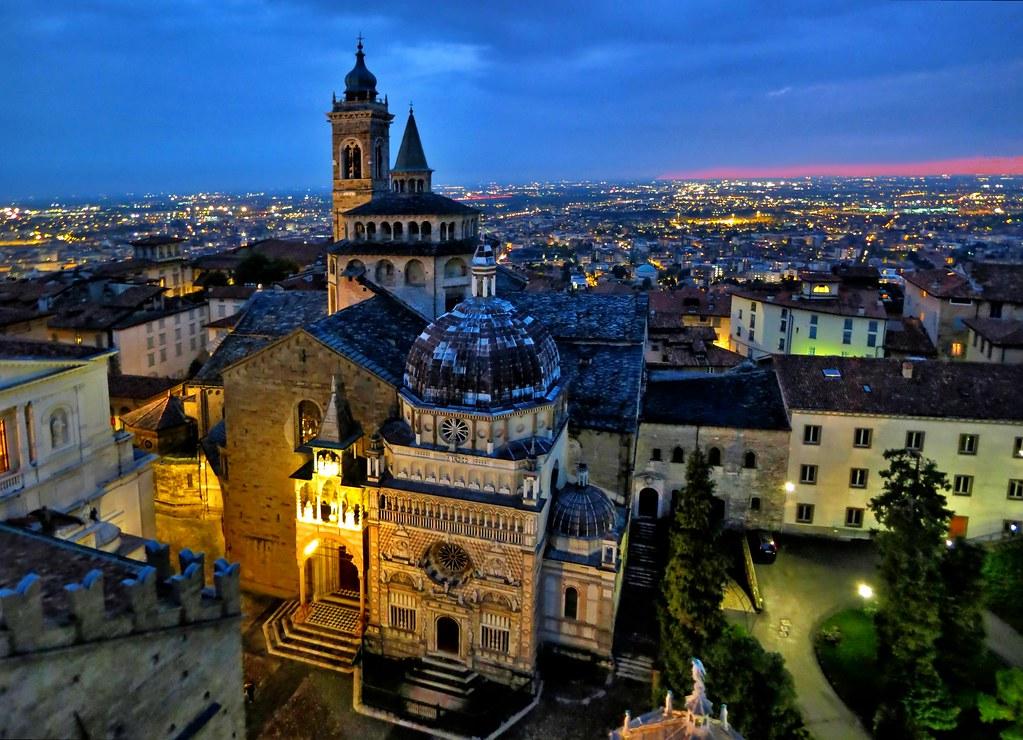 Bergamo Alta dall'alto