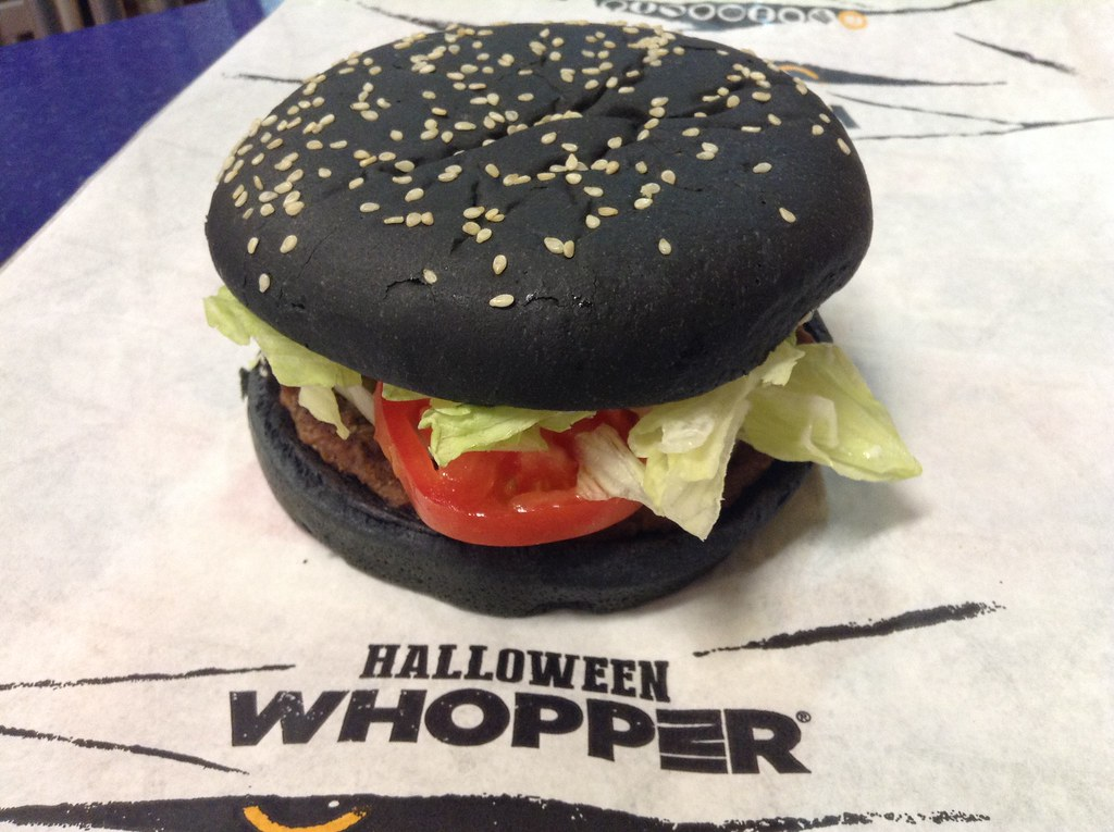 Burger King Halloween Whopper with Black Buns, and A-1 Ste… | Flickr