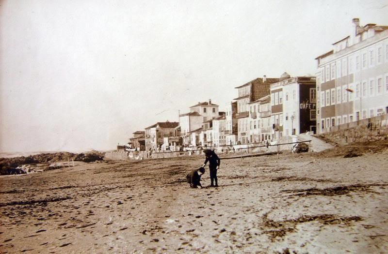 Foz do Douro -vista da marginal antes da construção da marginal