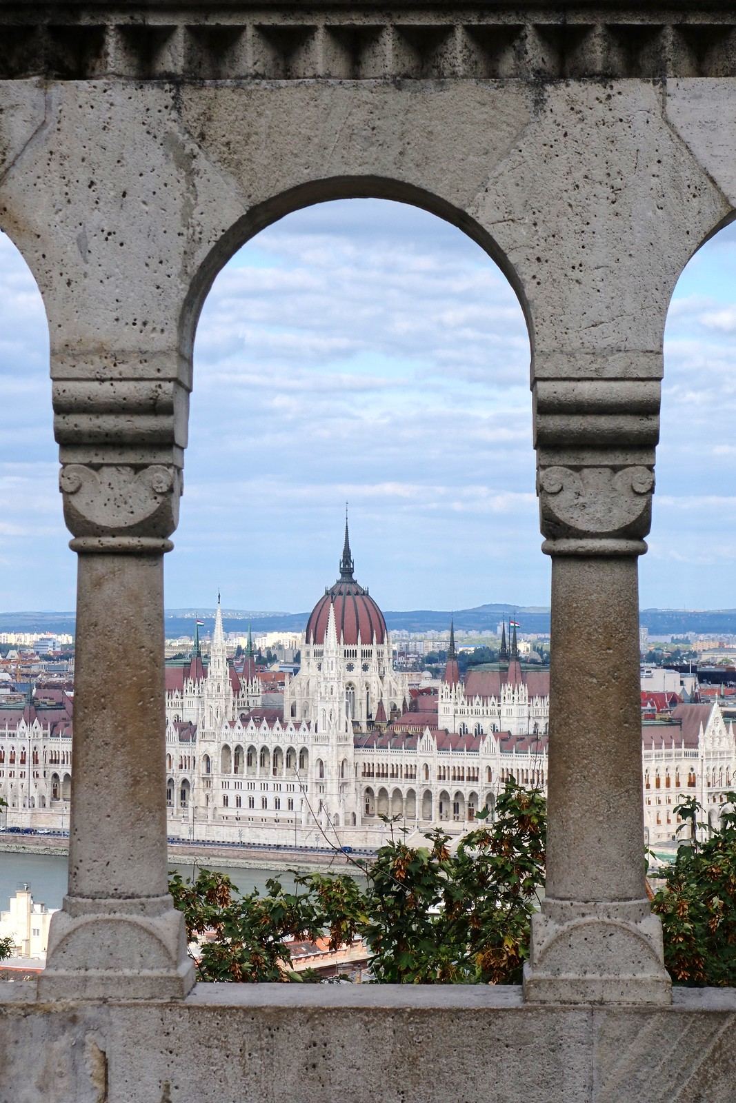 View of Parliament from Fisherman's Bastion, Budapest