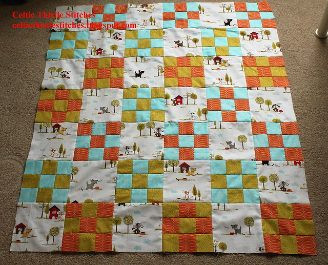 Doggy Delight Quilt top