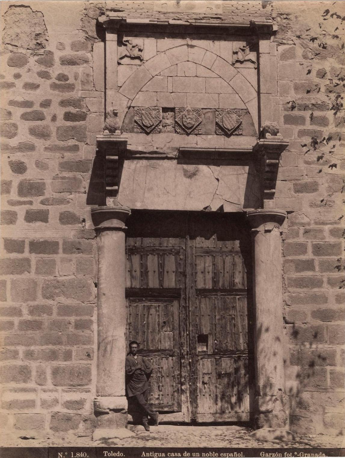 Palacio de Fuensalida en 1897 por Rafael Garzón