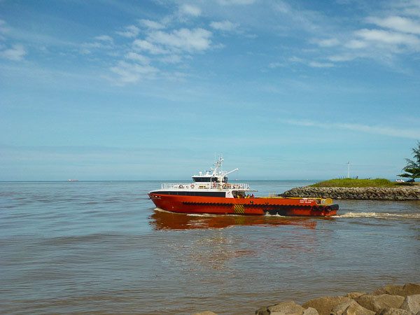 Miri River mouth