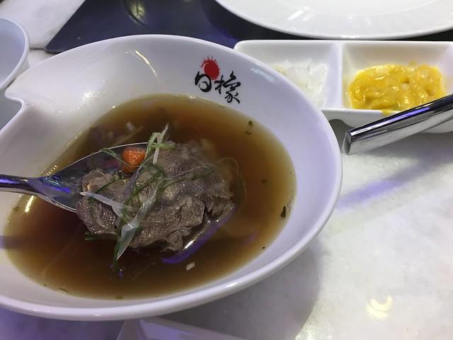 牛肉蔬菜湯@台中西屯,日橡精緻鐵板料理