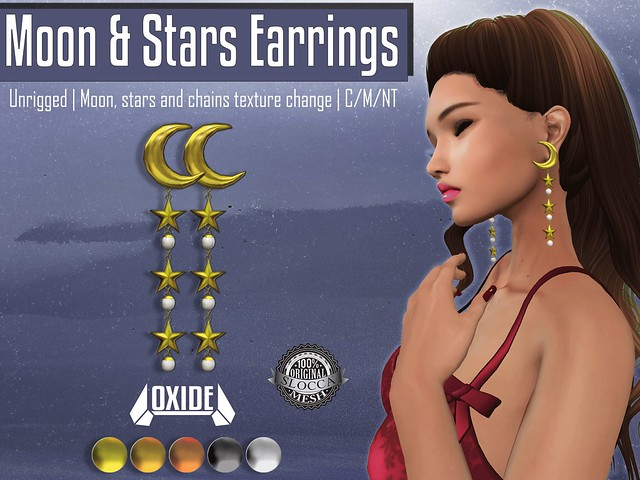 OXIDE Moon & Stars Earrings