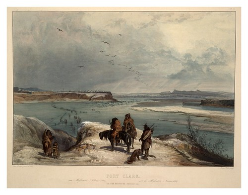 bodmer_fort_clark_missouri_february_1834_plate_15_volume_2_travels_interior_1843 | by Art Gallery ErgsArt