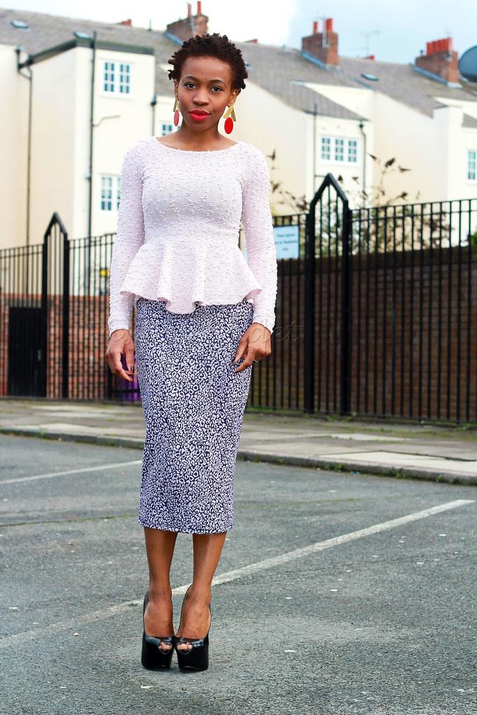 peplum-blouse-with-over-the-knee-pencil-skirt-black-peep-toe-platforms