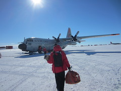 Boarding the LC-130 at McMurdo Station for the flight to South Pole Station