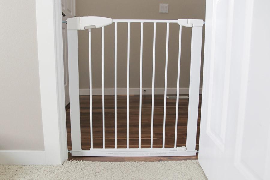 Image result for Munchkin white baby gate in doorway flickr