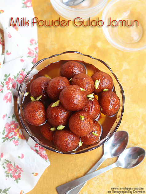 Easy Gulab Jamun with Milk Powder