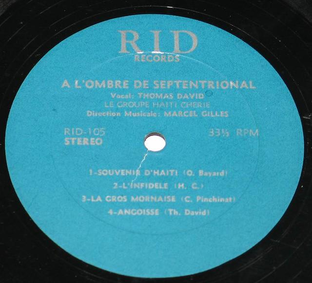 """GROUPE HAITI CHERIE - L'OMBRE DE SEPTENTRIONAL RARE 12"""" vinyl LP"""