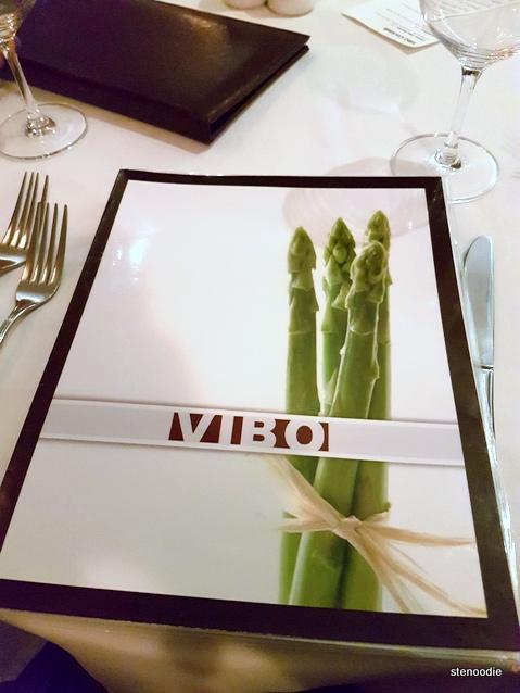 ViBo Restaurant menu cover