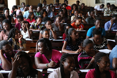 University of Ghana students listen to their political science professor, Dr. Evans Aggrey-Darkoh in Accra, Ghana | by World Bank Photo Collection