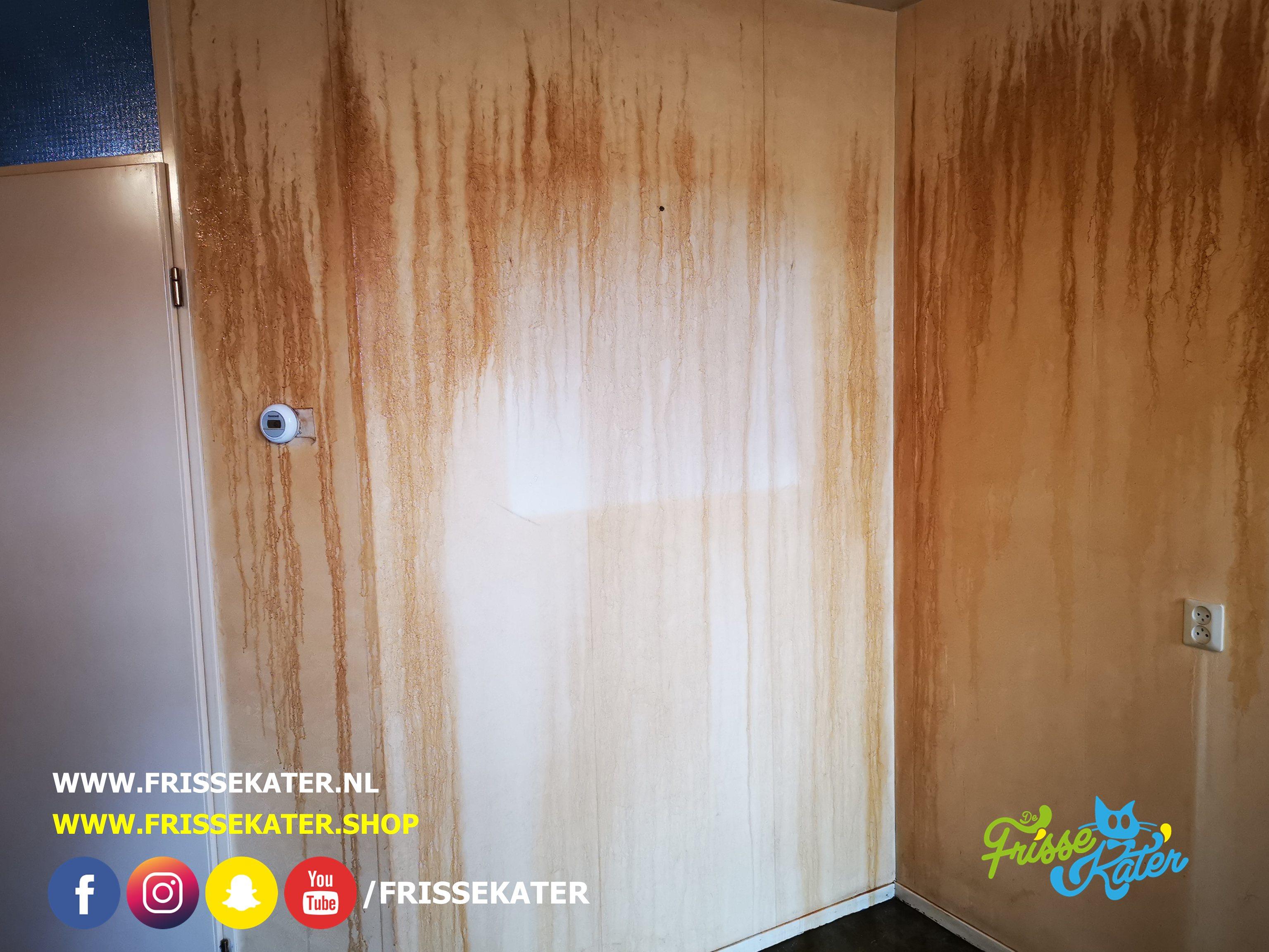 Muren wassen en schoonmaken