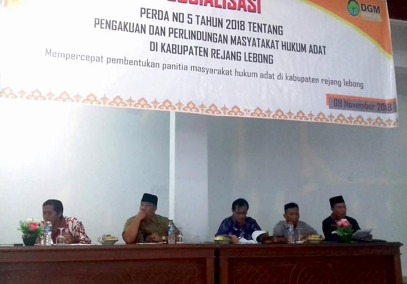 Sosialisasi PERDA no. 5 tahun 2018 oleh AMAN Rejang Lebong