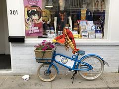 Lobster Riding Bike