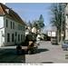 Bad Doberan. Horse & cart meets train. 30.3.95