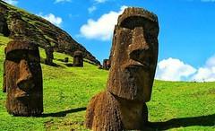 Easter Island Moai Statues. Pacific Chile.