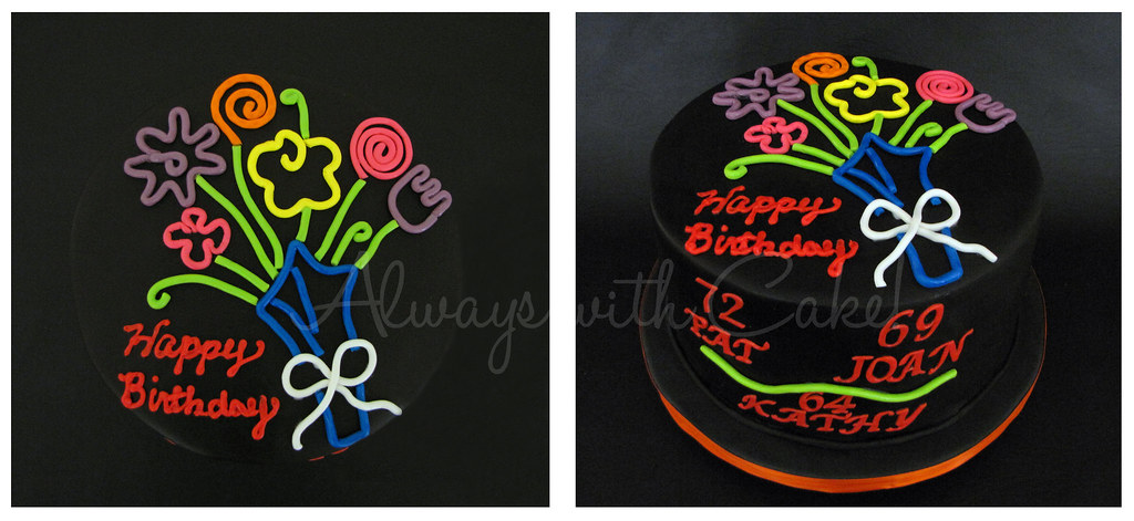 Neon Lights Birthday Glow In The Dark Cake Always With Cake Flickr