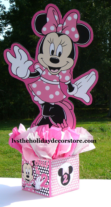 Inch large pink black white minnie mouse centerpiece de