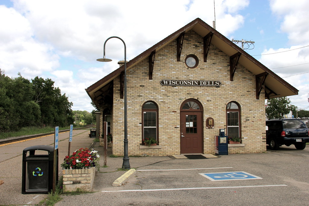 Traditional train station / Wisconsin Dells . | Two Months ...