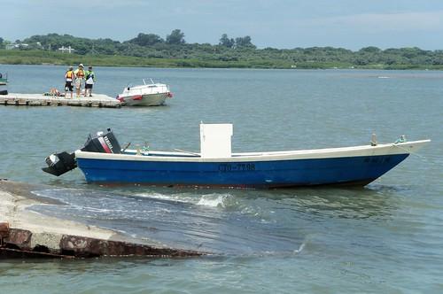 Small rear motor fishing boat left bank danshuei river for Small fishing boats with motor