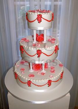 Pièce Montée - Gâteau de Mariage le Rêve Américain en Rose ...