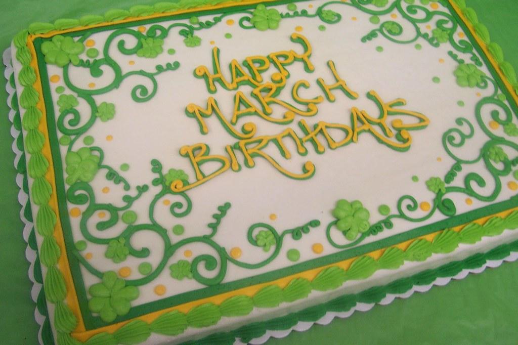 March Birthdays Sheet Cake Ashleys Pastry Shop Flickr