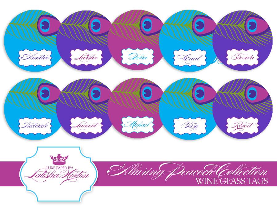 photograph regarding Printable Wine Glass Tags referred to as Pea Selection - Printable Wine Gl Tags