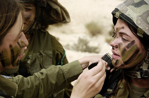 Female Soldiers Apply Camouflage Face Paint | by Israel Defense Forces