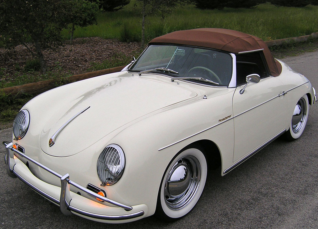 Roadster 1959 Porsche 356 A Rust Top And Wide White