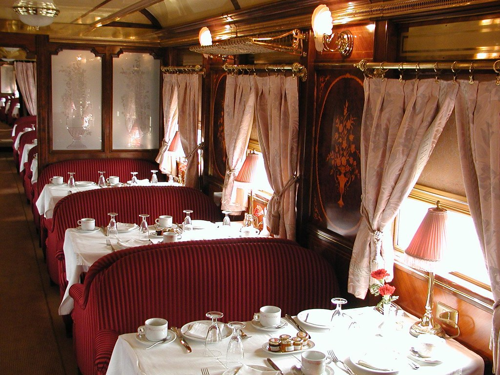 al andalus luxury train in southern spain dining car flickr. Black Bedroom Furniture Sets. Home Design Ideas
