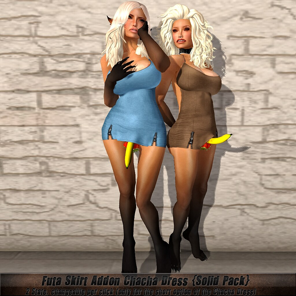 futa skirt addon Chacha Dress solid AD | Futa Skirt Addon ...