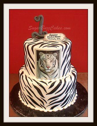 White Tiger Birthday Cake Carol Flickr