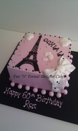 Paris Themed Birthday Cake Cake Inspired By Brenda S