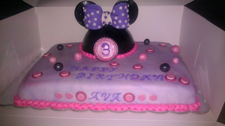 Images Of Minnie Mouse Sheet Cakes