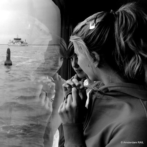 Dreamy girls' reflections at sea (14,000+ views / 750+ faves) | by Amsterdam RAIL