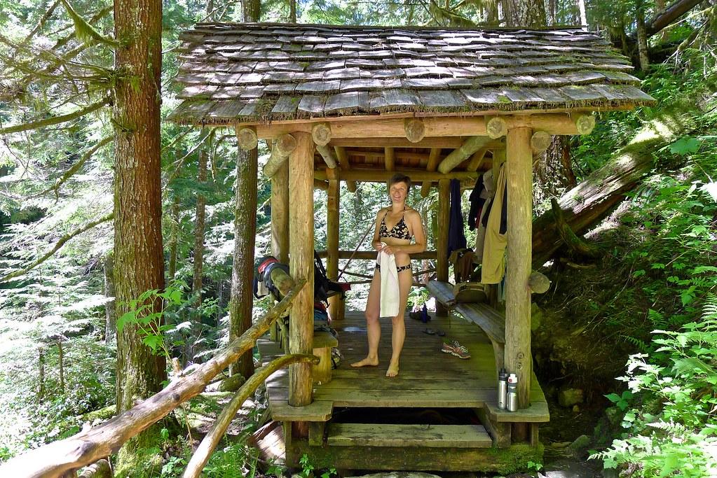 Goldmyer Hot Springs Changing Area Monty Vanderbilt