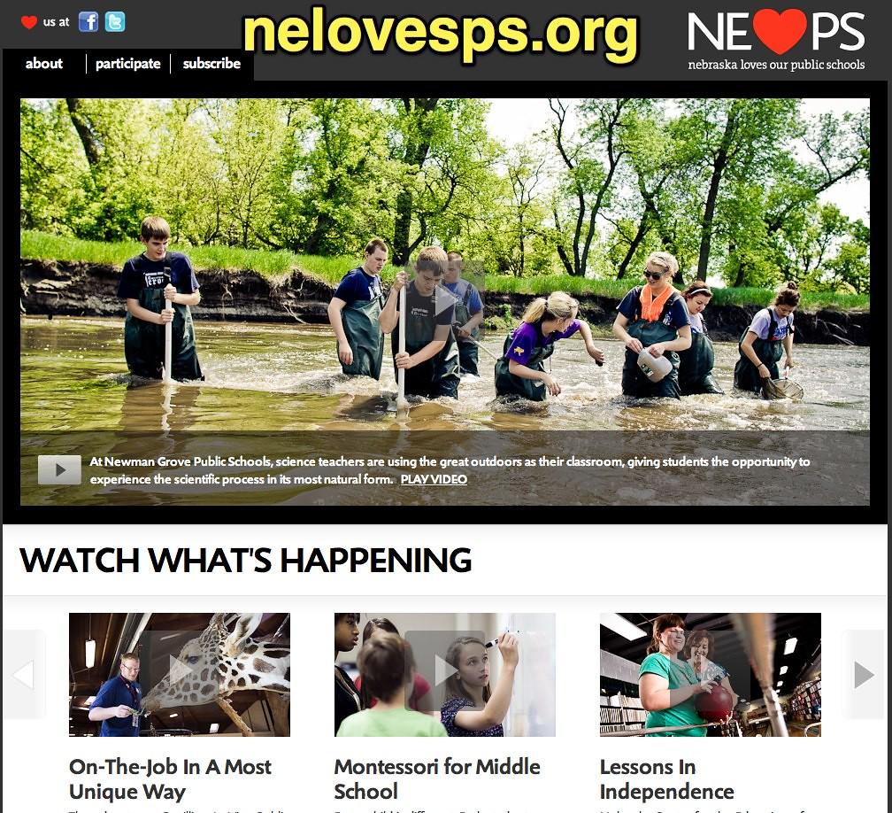 ... NElovesPS.org - Welcome to Nebraska Loves Public Schools   by Wesley  Fryer