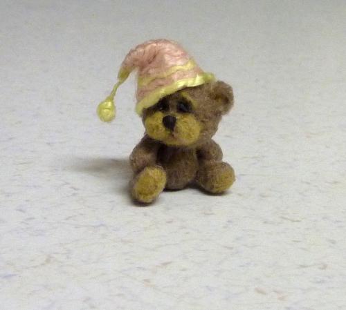 tiny teddy bear with sleeping cap kristy flickr